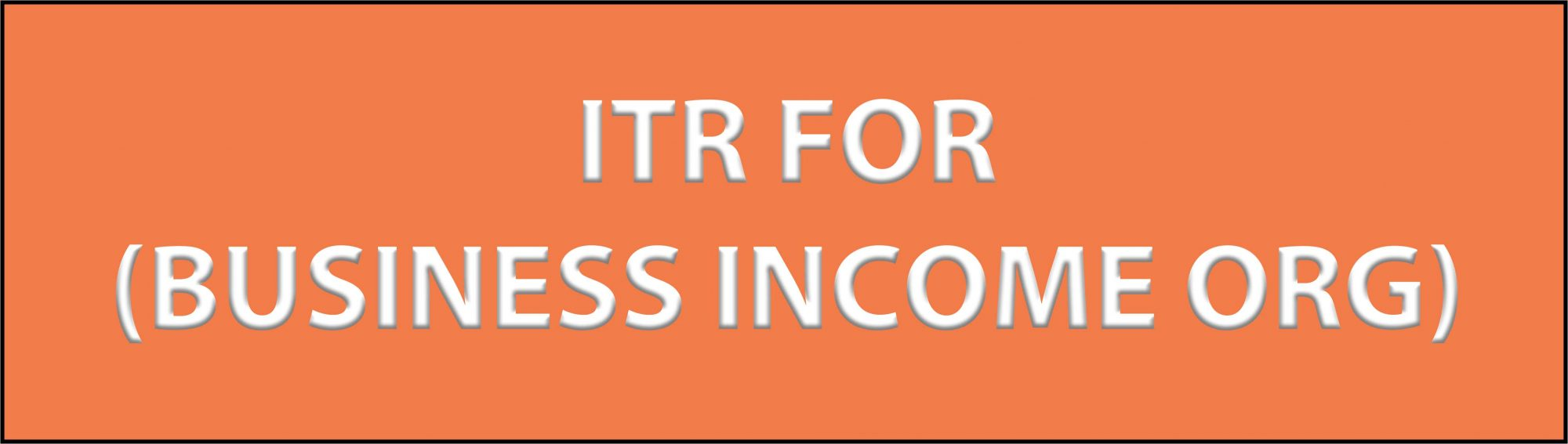 ITR FOR BUSINESS INCOME ORG